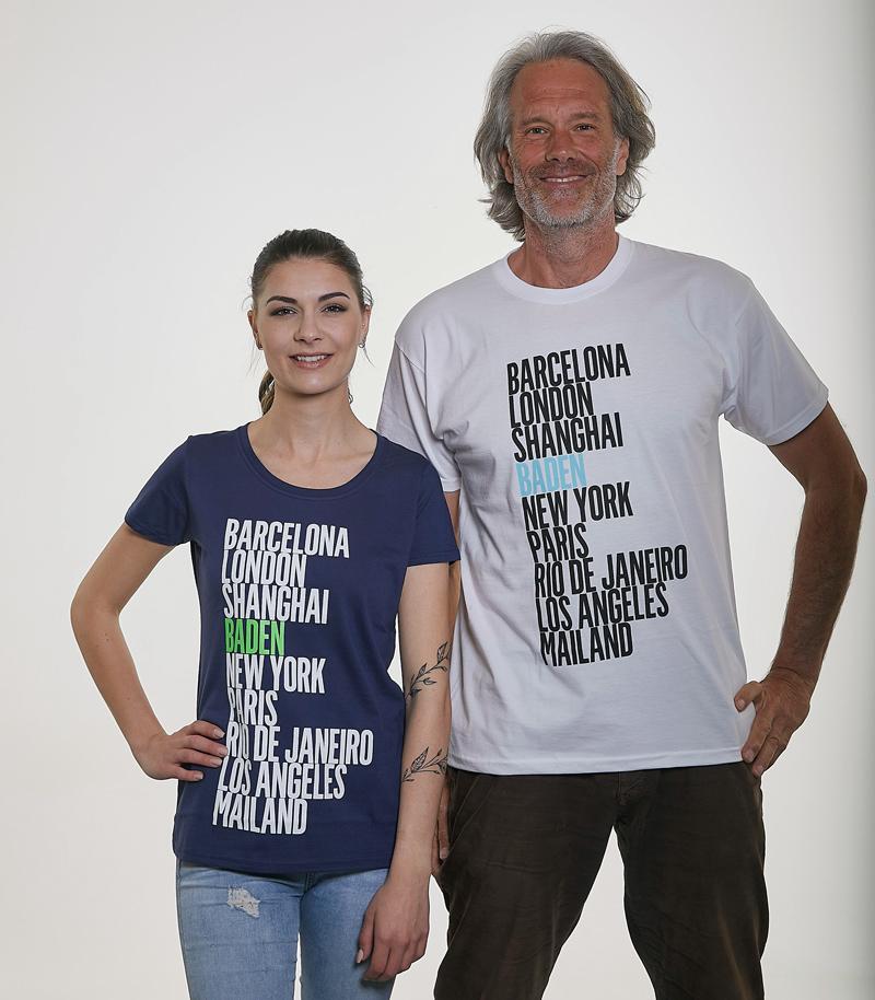 "T-Shirt ""Stolzes Baden"" - 9 Städte"